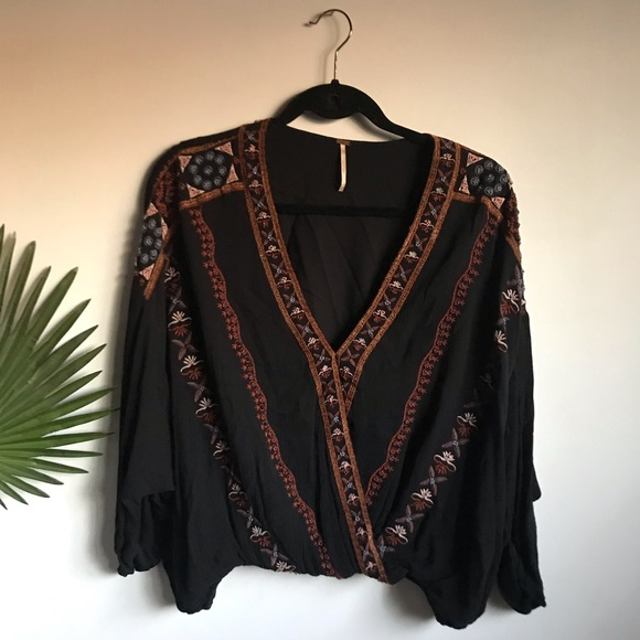 Free People Tops - Free People Crescent Moon Blouse